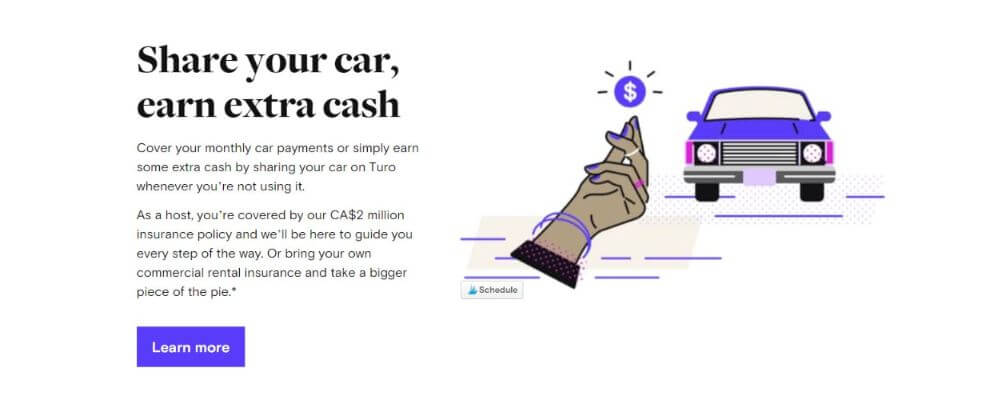 earn extra money sharing your car