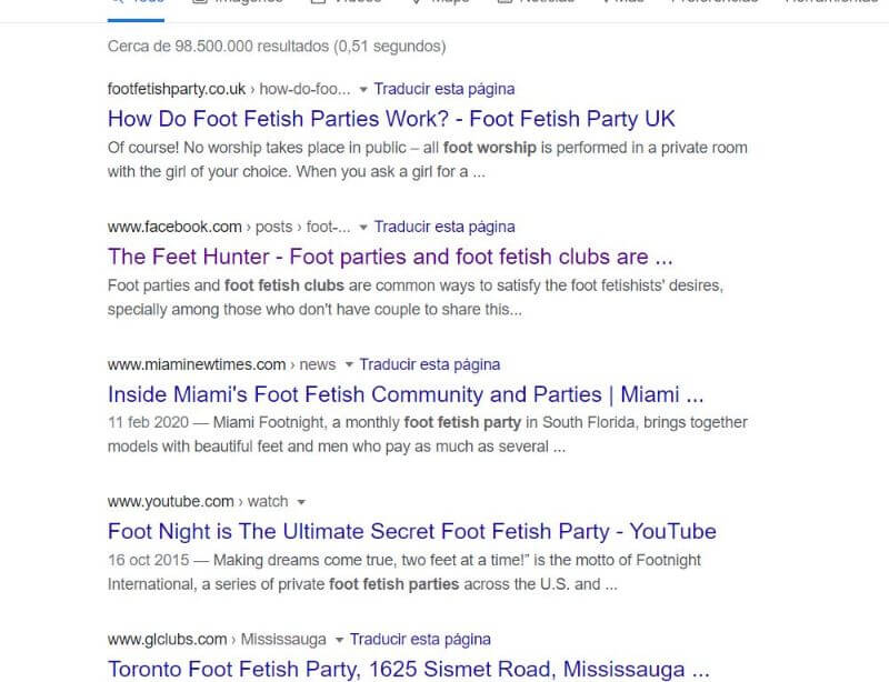 Foot fetish search
