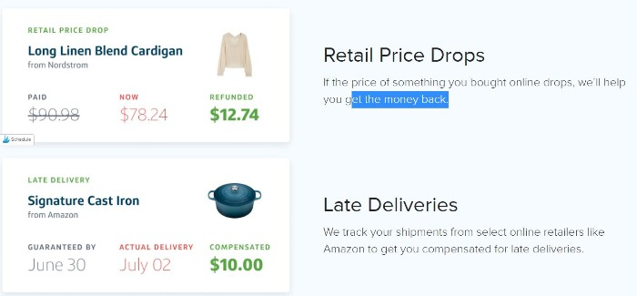 Paribus app will give you money back for you purchases
