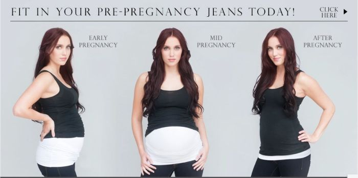 Free belly button bands for expecting mothers